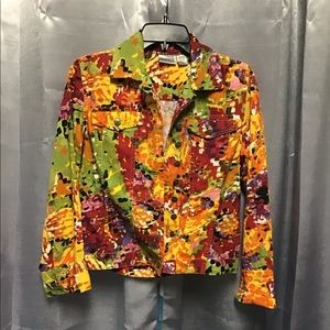Chico's floral Jean style jacket